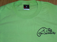 Help us advertise The CatWorks - buy a T-shirt or sweatshirt
